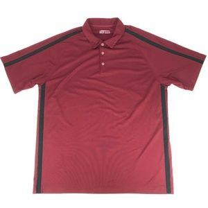 Nike Golf Red Short Sleeve Polo Shirt Men's XXL